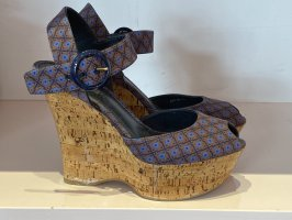 Louis Vuitton Wedge Pumps blue violet