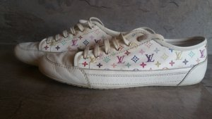 Louis Vuitton Lace-Up Sneaker white leather