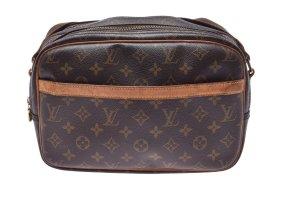 Louis Vuitton Schoudertas bruin Textielvezel