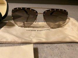 Louis Vuitton Okulary pilotki złoto-brązowy
