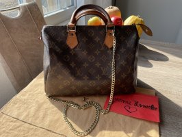 Louis Vuitton Speedy 30 in Monogram Canvas mit Zubehör