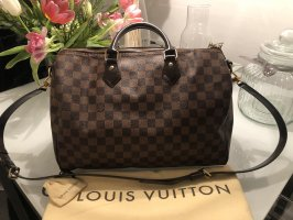 Louis Vuitton Speedy 35 Bandouliere Damier Ebene Canvas Crossbody