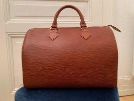 Louis Vuitton Speedy 35 Epi Leder Braun mit Hängeschloss, Echtheitszertifikat und Dustbag.
