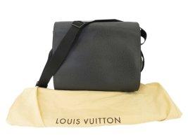Louis Vuitton Bagaglio nero Fibra tessile