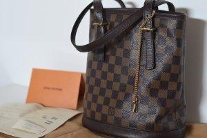 Louis Vuitton Handtas zwart-bruin