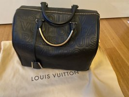 Louis Vuitton Bowling Bag black leather