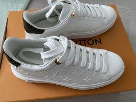 Louis Vuitton Basket à lacet blanc cuir