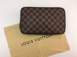Louis Vuitton Pochette black brown leather