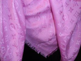 Louis Vuitton Foulard en soie rose soie