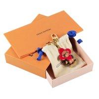 Louis Vuitton Breloczek do kluczy złoto Tkanina z mieszanych włókien