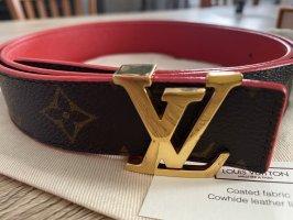 Louis Vuitton Cinturón de cuero de imitación multicolor
