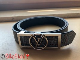Louis Vuitton Reversible Belt white-steel blue