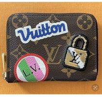 Louis Vuitton Portemonnee bruin-magenta