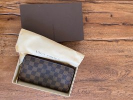 Louis Vuitton Zippy Geldbörse in Damier Ebene Canvas