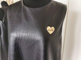 Love Moschino A-Linienkleid Lederkleid Size 44 (EU 40/42) Neu!