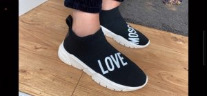 Love Moschino Slip-on Sneakers black-white