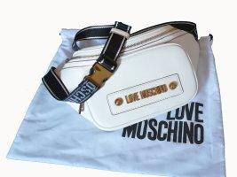 Love Moschino Marsupio bianco-oro Pelle