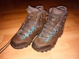 LOWA Wanderschuhe/Stiefel in braun mit blau in 39 NEUWERTIG
