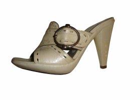 Luciano Barachini Echtleder Lackleder Pumps antik beige silber Gr 37,5 neu,169,€