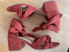 Lucky Brand Schuhe Gr 36 rot rostrot weinrot NEU