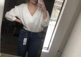 Luftige weiße Bluse von ZARA