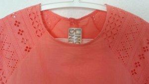 Luftiges neues !! Sommerkleid aus Italien - super Farbe Koralle - Gr. 38