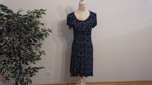 Luftiges Sommerkleid / Blau-Weiß