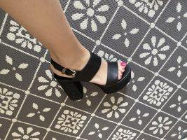 Liu jo Plateauzool sandalen zwart