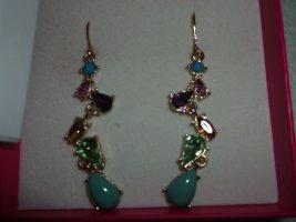 LULU & JANE vergoldete Ohrringe mit Steinchen NEU ovp.