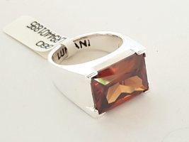 Lumani Silber Ring - Brauner Zikonia - Gr 60 - NEU - 925er Sterlingsilber