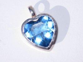 Lumani Silberanhänger Herz mit blauen Zirkonia - NEU