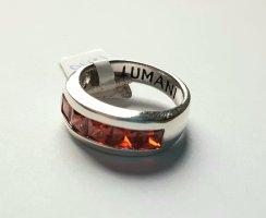 Lumani Silberring - mit roten Zirkonia - Gr. 54 - Neu