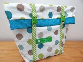 Handmade Mini Bag cadet blue-grass green cotton