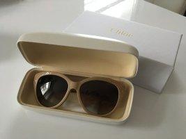 Chloé Occhiale da sole ovale beige-oro