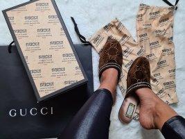 Luxuriöse Gucci Slipper Pantoletten mit Kristallen gr.39