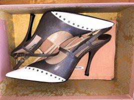 Luxuriöse High-Heel Slingback der italienischen Marke Miu Miu mit ca. 12cm Absatz.