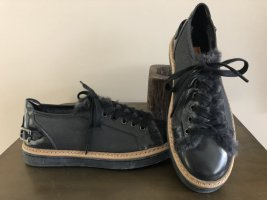 AGL Lace-Up Sneaker dark grey leather