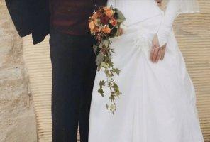 ❤️ Luxus Brautkleid NP 1200,- Jacke Bolero Weise 36 S XS Hochzeit