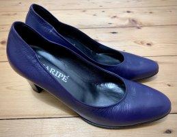 Luxus Leder Pumps von Maripé Gr. 37,5 violett Maripe Absatzschuhe neuwertig