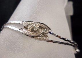 Luxus Modern Art Armband 835 Silber Swarovski  CC ineinander verschlungen