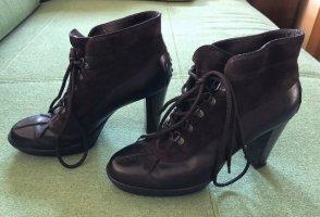 Tod's Bottes à bout ouvert noir-brun foncé