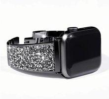 Apple Montre avec bracelet métallique noir-argenté