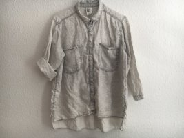 H&M Bluzka jeansowa jasnoszary-biały