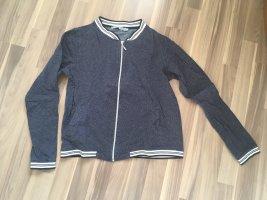 Maas Chaqueta estilo camisa azul oscuro-blanco Algodón