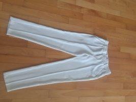 MAC hochwertige weiße Sommerhose mit Silberketten-Verzierung