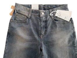 MAC Jeans Jeansy z prostymi nogawkami niebieski Bawełna