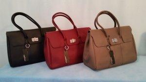 Made in Italia Handtasche Henkeltasche Shopper Leder bordeaux NEU