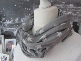 Made in Italy Panno di seta grigio-bianco