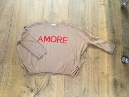 """Made in Italy Feinstrick Pullover Camel braun """"Amore"""" Onesize"""