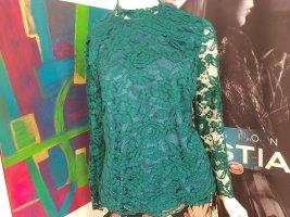 Madeleine Blusen shirt Lace Spitzen gefüttert 40/42 Medium